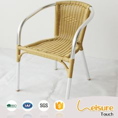 latest design stacking outdoor wicker aluminum bistro chair