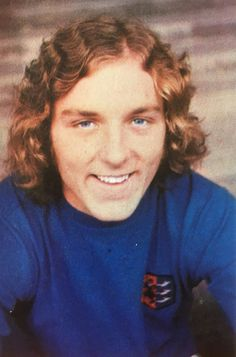 Kevin Beattie of Ipswich Town in 1971. Ipswich Town Fc, Blue Army, Retro Football, Best Player, Premier League, Kicks, The Past, Soccer, Memories