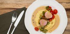 weihnachtsmenü  amiga, schweinefilet, #pork #meat #filet #polenta #veggies #easy www.amigaprincess.com