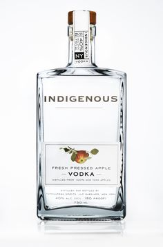 Indigenous Fresh Apple Pressed Vodka.
