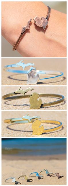 Love Michigan? Celebrate the beauty, spirit and peace of this beautiful state with our Michigan bangle. Free Shipping, Enter: LoveMichigan. #PureMichigan