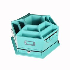 Recollections™ Storage Desktop Carousel, Turquoise