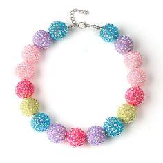 Toddler Pastel Bubblegum Necklace