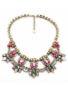 Intricate Bold Multigem Necklace
