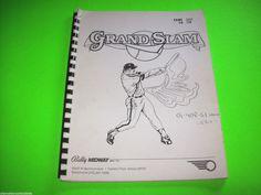 GRAND SLAM By BALLY 1983 ORIGINAL PINBALL MACHINE SERVICE MANUAL w/ SCHEMATICS #pinball #ballypinball