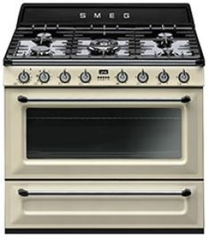 TRA90P: Cooker Smeg designed in Italy, has functional characteristics of quality with a design that combines style and high technology. See it at www.smeg.com.au