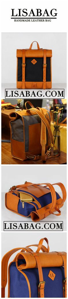 c630c91077 Handmade Waxed Black Canvas and Leather Backpack School Backpack Laptop Bag  JL8002 Photography Bags
