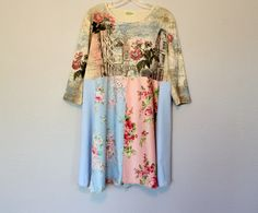Romantic Boho Dress Upcycled Women's Clothing Gypsy Cowgirl Summer Frock by AmadiSloanDesigns on Etsy