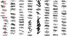 ulathtethu: graffiti tags letters