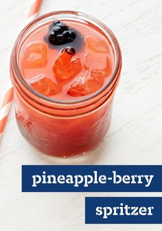 Pineapple-Berry Spritzer – Hit 'em with your fruity best! This refreshing spritzer is a delicious blend of strawberries, pineapple juice and blackberries poured over ice. Plus, the recipe's ready to enjoy with company in just 15 minutes time.