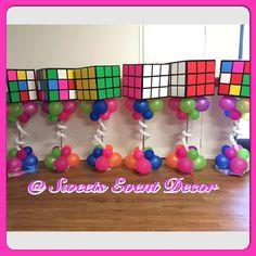 80's Theme - Rubix Cube  Quinceañera Party Ideas | Photo 1 of 11