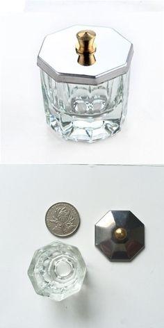[Visit to Buy] 1Pcs Crystal Glass Dappen Dish / Lid Bowl Cup Crystal Glass Dish Nail Art Tools Acrylic Nail Art Equipment Mini Bowl Cups #Advertisement