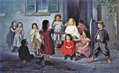 John George Brown (American genre painter, 1831-1913).  The Teacher