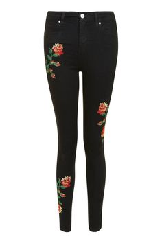 MOTO Embroidered Jamie Jeans - New In- Topshop Europe