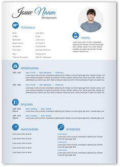 Premium CV 211. 1 Pagina CV en Sollicitatiebrief. Gebruik deze