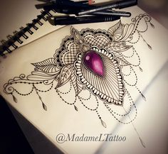 Our Website is the greatest collection of Underboobs tattoo designs, tattoo shops and artists. Gem Tattoo, Jewel Tattoo, Sternum Tattoo, Tattoo Art, Lace Tattoo Design, Mandala Tattoo Design, Tattoo Designs, Cover Up Tattoos, Body Art Tattoos
