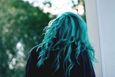 I wish that I had the balls to go through with colouring my hair turquoise when I was younger, my hairdresser refuses to put turquoise-coloured streaks in my hair now... alas!