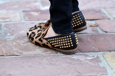 leopard and pyramid spikes