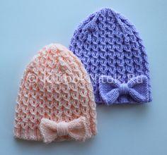 Шапочка для новорожденного   Вязание для девочек   Вязание спицами и крючком. Схемы вязания.
