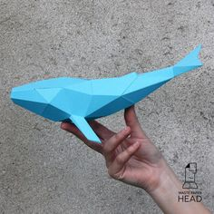 WHALE Model 3 pages 11 parts Assembled size cm (when printing on cm (when printing on Simple difficulty level Necessary materials and tools: - thick paper or cardboard - printer - paper knife, steel ruler, scissors, cutting mat - paper glue Mat Paper, Paper Glue, 3d Paper Crafts, Foam Crafts, Paper Toys, The Rules, Diy Projects Etsy, Origami, Polygon Art
