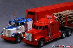Lego US Semi Trucks by Ingmar Spijkhoven