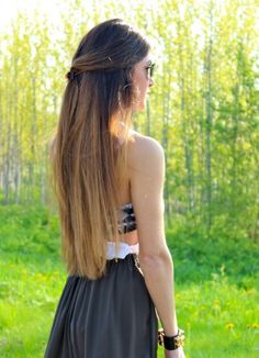 wow..long brown ombre hair..wish i could pull this off.