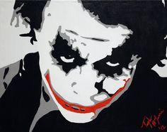 Der Joker Heath Ledger benutzerdefinierte von Taylorpaints auf Etsy, $75.00