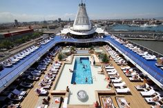 Relax by the pool...loved this ship. April - May 2013 from Barcelona to Rome.