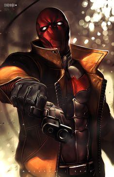 Comics Anime, Dc Comics Art, Red Hood Wallpaper, Teen Titans, Batman Red Hood, Gotham, Hood Wallpapers, Red Hood Jason Todd, Univers Dc