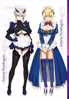 Different 2 dressed of King Arthur Kawaii Anime Girl, Anime Art Girl, Manga Girl, Thicc Anime, Anime Comics, Female Characters, Anime Characters, Majin, Fate Stay Night Series