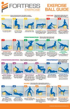 Printable Pilates Chart | Fortress Anti-Burst Patient Exercise Balls [PY7300] | Physio Supplies ...