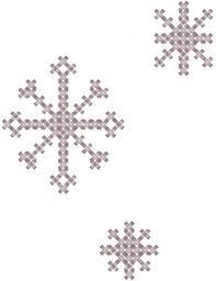 basic cross stitch snowflakes.