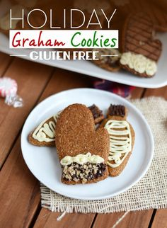 Holiday Graham Cookies [gluten free] - Fit Foodie Finds