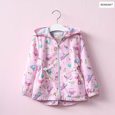 >> Click to Buy << Y70607142 2017 New Spring Baby Girl Coat Animal Owl Fashion Hooded Zipper Girl Jacket Pink Lolita Full Sleeve Kids Outerwear #Affiliate