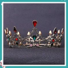 (This is an affiliate pin) Aetorgc Vintage Bridal Headbands Queen Tiaras and Crowns Pageant Wedding Headpiece Black Crystal Jewelry Set for Women and Girls Bridal Headbands, Fashion Headbands, Vintage Headbands, Queens Tiaras, Headband Styles, Tiaras And Crowns, Vintage Bridal, Black Crystals, Crystal Jewelry
