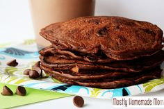Mostly Homemade Mom: Chocolate Milk Pancakes