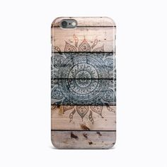 Wooden Mandala Hard Case Cover For Apple iPhone 4 4S 5 5S 5c SE 6 6S 7 Plus #Apple