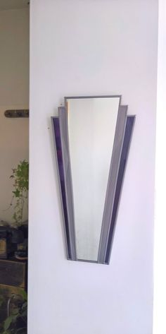 Art Deco Fantail stained glass style mirror Grey and Deep Purple Charles Rennie Mackintosh, Art Deco Period, Deep Purple, Different Styles, Stained Glass, Art Nouveau, My Etsy Shop, Mirror, Powder Room