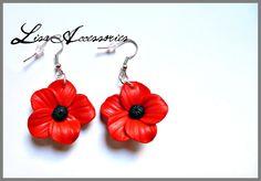 Cercei maci Lisa, Drop Earrings, Shop, Handmade, Jewelry, Hand Made, Jewellery Making, Jewerly, Jewelery