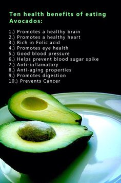 Benefits of avocados