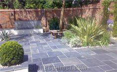 49 Ideas for outdoor stone patio ideas slate Slate Pavers, Slate Patio, Patio Slabs, Bluestone Patio, Patio Tiles, Slate Garden, Garden Paving, Flagstone, Gardens