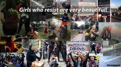 Girls who resists are beautiful. #direngezi #occupygezi