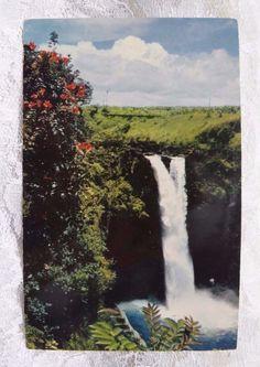 Vintage Postcard Hawaii Hawaiian Nani Li'i Krome Rainbow Falls 1951 Hilo, Hawaii #Vintage #postcard #Hawaii #Beach