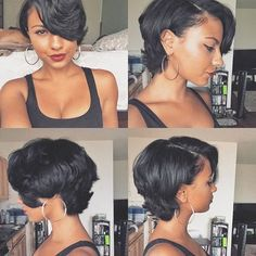 """Who want to see the most beautiful bob hairstyles for black women? If you say """"yes"""", here are the latest bob hairstyles ideas for black ladies with curly or Love Hair, Gorgeous Hair, Beautiful Body, Curly Hair Styles, Natural Hair Styles, Straight Hairstyles, Black Hairstyles, Braided Hairstyles, Trendy Hairstyles"""
