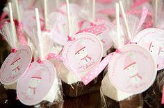 Favors and favor tags - Hot Chocolate on a Stick