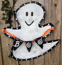 Halloween Ghost Boo Door Decor Wreath. $50.00, via Etsy.