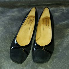 """Softspots Black Wedge Heel Almost 2"""" wedge. Black suede with patent leather. Size is 10N. Great condition, hardly worn. Softspots Shoes Wedges"""