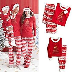 0d63749e2db Family Matching Christmas Pajamas Set Women Baby Kids Deer Sleepwear  Nightwear H