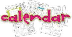 calendar time binder printables