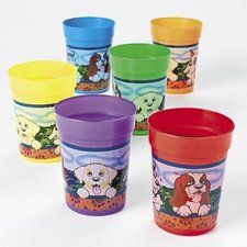 Puppy Party Plastic 10oz. Puppy Cups (12 ct) 6.25